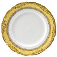 10 Strawberry Street VAN-24G 11 7/8 inch Vanessa Gold Round Charger Plate - 12/Case
