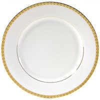 10 Strawberry Street ATH-24G 11 7/8 inch Athens Two-Tone Gold Round Charger Plate