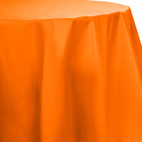 Creative Converting 703282 82 inch Sunkissed Orange OctyRound Disposable Plastic Table Cover - 12 / Case