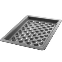 Chicago Metallic 70821 BAKALON 16 Gauge Anodized Aluminum Diamond Grill Pan - 8 1/3 inch x 11 1/2 inch