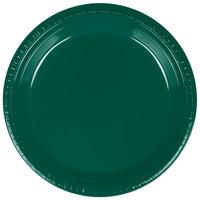Creative Converting 28312421 9 inch Hunter Green Plastic Plate - 240 / Case