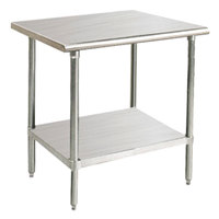"""Advance Tabco SAG-242 24"""" x 24"""" 16 Gauge Stainless Steel Commercial Work Table with Undershelf"""