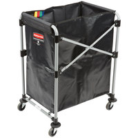Rubbermaid Laundry Cart, 4 Bushel X-Frame Collapsible Folding Cart - 1881749