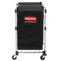 Rubbermaid 1881749 Collapsible 4 Bushel X-Frame Folding Laundry Cart