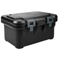 Cambro UPCS180110 Black S-Series Ultra Food Pan Carrier Insulated Top Loading