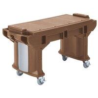 Cambro VBRT6146 Bronze 6' Versa Work Table with Standard Casters