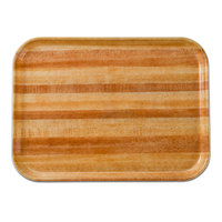 Cambro 2632303 10 7/16 inch x 12 3/4 inch (26,5 x 32,5 cm) Rectangular Metric Light Butcher Block Fiberglass Camtray - 12/Case