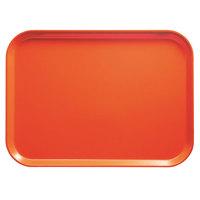 Cambro 2632222 10 7/16 inch x 12 3/4 inch (26,5 x 32,5 cm) Rectangular Metric Orange Pizzazz Fiberglass Camtray - 12 / Case