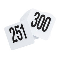 American Metalcraft 4300 Plastic Table Number Set - Numbers 251 - 300