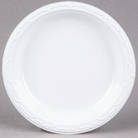 Genpak 70900 Aristocrat 9 inch White Heavy Plastic Plate - 125 / Pack
