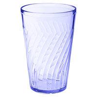 GET 2216-1-BL 16 oz. SAN Blue Plastic Tahiti Tumbler - 72/Case