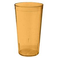 GET 6624-1-6-A 24 oz. Amber SAN Plastic Textured Tumbler - 72 / Case
