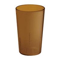 GET 6608-1-6-A 8 oz. Amber SAN Plastic Textured Tumbler - 72 / Case