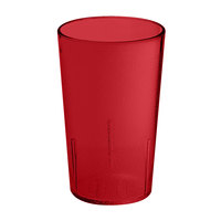 GET 6608-1-6-R 8 oz. Red SAN Plastic Textured Tumbler - 72/Case