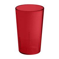 GET 6608-1-6-R 8 oz. Red SAN Plastic Textured Tumbler - 72 / Case