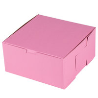 Southern Champion 841 8 inch x 8 inch x 4 inch Pink Cake / Bakery Box - 250/Bundle
