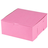 Southern Champion 861 9 inch x 9 inch x 4 inch Pink Cake / Bakery Box - 200/Bundle