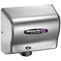 American Dryer CPC9-SS ExtremeAir Automatic Hand Dryer and Sanitizer with Stainless Steel Cover - 100-240V, 800-1500W