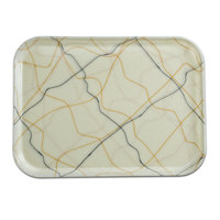 Cambro 1014270 10 5/8 inch x 13 3/4 inch Rectangular Swirl Black and Gold Fiberglass Camtray - 12/Case