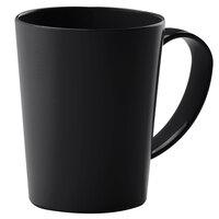 Carlisle 4306803 12 oz. Nesting Black Tritan Mug - 12 / Case