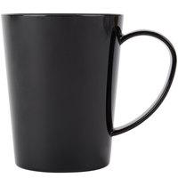 Carlisle 4306803 12 oz. Nesting Black Tritan Mug - 12/Case