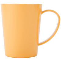 Carlisle 4306822 12 oz. Honey Yellow Tritan Nesting Mug - 12/Case