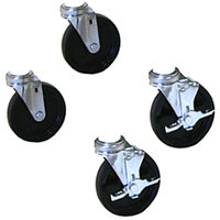 APW Wyott 33900 3 inch Swivel Casters for HDX, HDD, and HDDS Countertop Drawer Warmers - 4/Set