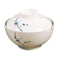 Blue Bamboo Melamine 10 oz. Special Bowl with Lid – 4 1/2 inch 12 / Pack