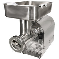 Weston 08-2201-W #22 Meat Grinder with 2 Plates and 3 Funnels