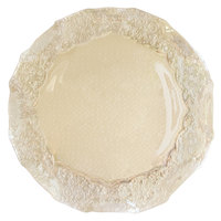 The Jay Companies 12 1/2 inch Round Roberta Iris Luster Pearl Glass Charger Plate