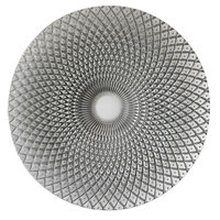 The Jay Companies 12 3/4 inch Round Edge Silver Glass Charger Plate