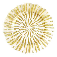 The Jay Companies 12 3/4 inch Round Halley Gold Glass Charger Plate