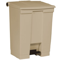Rubbermaid FG614500 Beige Rectangular Plastic Step-On Container 18 Gallon (FG614500BEIG)