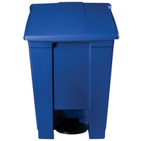 Rubbermaid 1829416 Blue Rectangular Plastic Step-On Container 12 Gallon