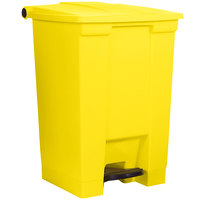 Rubbermaid FG614400YEL Yellow Rectangular Plastic 12 Gallon Step-On Container
