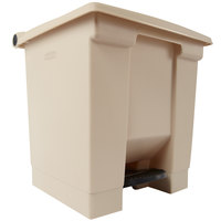 Rubbermaid FG614300 Beige Rectangular Plastic Step-On Container 8 Gallon (FG614300BEIG)
