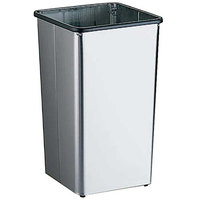 Bobrick B-2280 Floor Standing 21 Gallon Square Waste Receptacle with Open Top