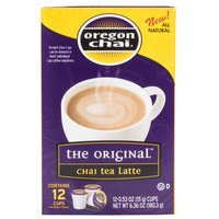 Oregon Chai, Chai Tea Latte Single Serve Cups - 12 / Box, 6 Boxes / Case
