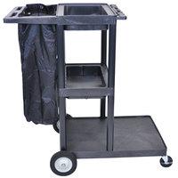 Luxor / H. Wilson JCB30 Three Shelf Janitor Cart Heavy Duty
