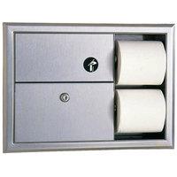 Bobrick B-3094 ClassicSeries Recessed Sanitary Napkin Disposal and Toilet Tissue Dispenser