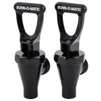 Bunn 03260.1000 Faucet Assembly with Black Handle for TDS3 Iced Tea Dispensers - 2/Pack
