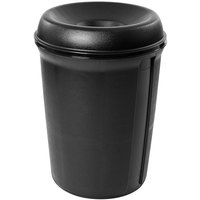 Rubbermaid 905800 Atrium Classic Container Black Round Funnel Top Plastic Waste Receptacle 35 Gallon (FG905800BLA)