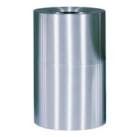 Rubbermaid AOT62 Atrium Satin Finish 2-Piece Round Open Top Aluminum Waste Receptacle with Rigid Plastic Liner 55 Gallon (FGAOT62SAPL)