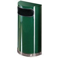 Rubbermaid SO8 European Empire Green with Chrome Accents Half Round Steel Waste Receptacle with Rigid Plastic Liner 9 Gallon (FGSO820PLEGN)