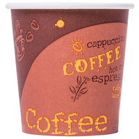 Choice 4 oz. Poly Paper Hot Cup with Coffee Design - 50 / Pack