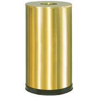 Rubbermaid CC16 Metallic Round Open Top Satin Brass Stainless Steel Waste Receptacle with Galvanized Steel Liner 15 Gallon (FGCC16SBSGL)