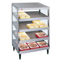 Hatco GRPWS-2424Q Glo-Ray 24 inch Quadruple Shelf Pizza Warmer - 2400W