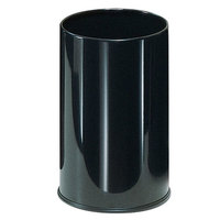 Rubbermaid UB1900E Black Round Steel Wastebasket 5 Gallon (FGUB1900EBK)