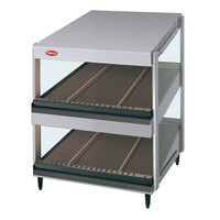 Hatco GRSDS-52D Glo-Ray 52 inch Slanted Double Shelf Merchandiser