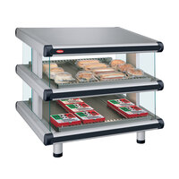 Hatco GR2SDS-42D Glo-Ray Designer 42 inch Slanted Double Shelf Merchandiser